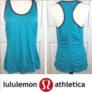 LULULEMON 8 Ruched Tank Workout Top